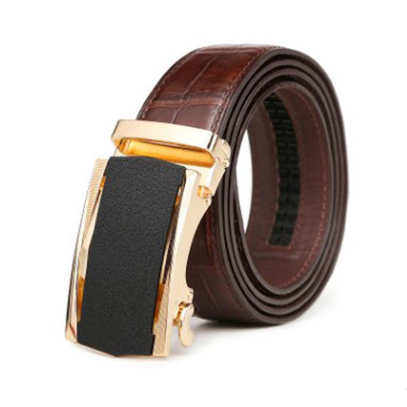 LINSHE crocodile  The belt  men  Genuine leather  business  Automatic buckle  The belt  fashion  male  leisure  belts