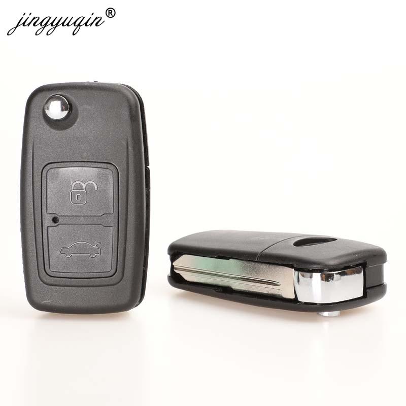 jingyuqin for CHERY A5 FULWIN TIGGO E5 A1 COWIN EASTER Car Key Case 3 Buttons Modified Remote Key ABS Shell(China)