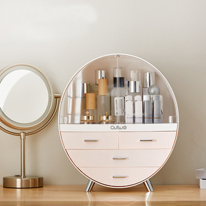 Home Fashion Waterproof Drawer Makeup Storage Box Brush Lipstick Holder Desktop Acrylic Jewelry Cosmetic Skin Care Organizer