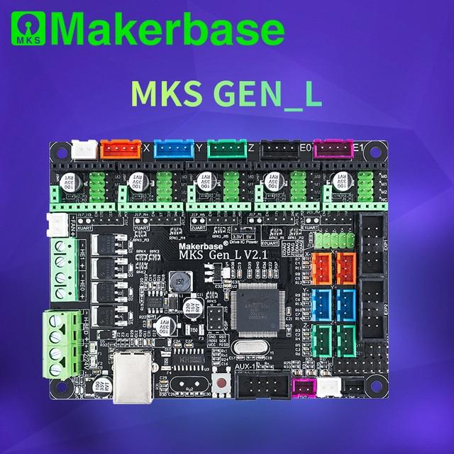 Makerbase 3D printer board MKS Gen L controller compatible with Ramps1.4/Mega2560 R3 support A4988/TMC2208/2209TMC2100 drivers