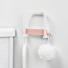 Washbasin Bathroom Storage Rack  Shelf Wall Hanging Strong No Trace Sticker For