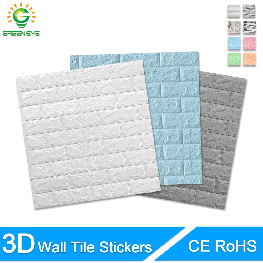 3D Wallpaper DIY Brick Stone Pattern Self-Adhesive Waterproof Wall Stickers 70cm*77cm Floral prints 3D Wall Sticker For Home