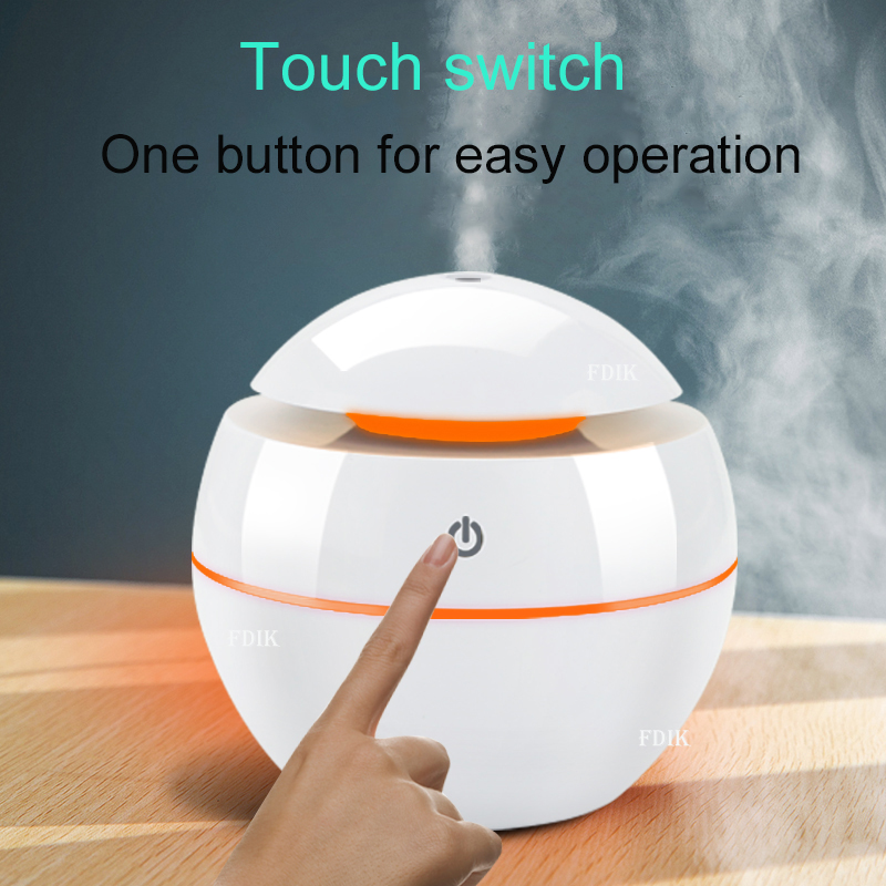 130ml USB Aroma Essential Oil Diffuser Ultrasonic Mini Humidifier Air Purifier 7 Color Change LED Night Light For Office Home