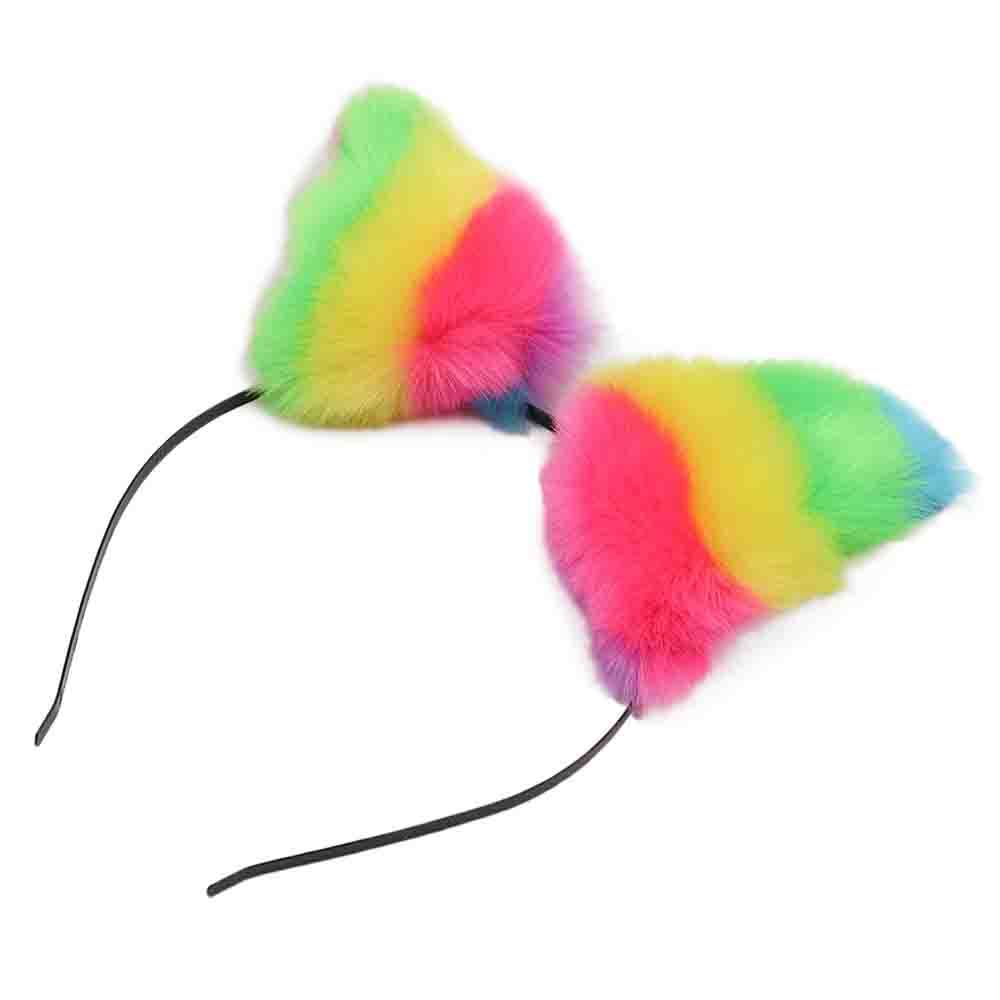 Hallowen Hair Band Kitty Costume Cat Ears Headband Girls Hair Band Buckle Party Head Wear Birthday Gift Photography Props in Party DIY Decorations from Home Garden