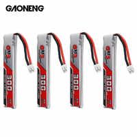 4 Uds Gaoneng GNB 3,8 V 300mAh 30C 1S batería de Lipo de PH2.0 enchufe para Happymodel Mobula7 Mobula6 FPV Racing Cine Whoop BetaFPV Drone