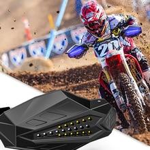 2 Pcs Motorcycle Hand Guards Handguard Shield Protector LED Light For Motocross Dirt Bike Pit Bike ATV Quad Protective Gear