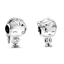2020 новые оригинальные серебряные бусины 925 пробы для мальчиков и девочек подростков браслеты с подвесками, соответственные Пандоре обаятел...