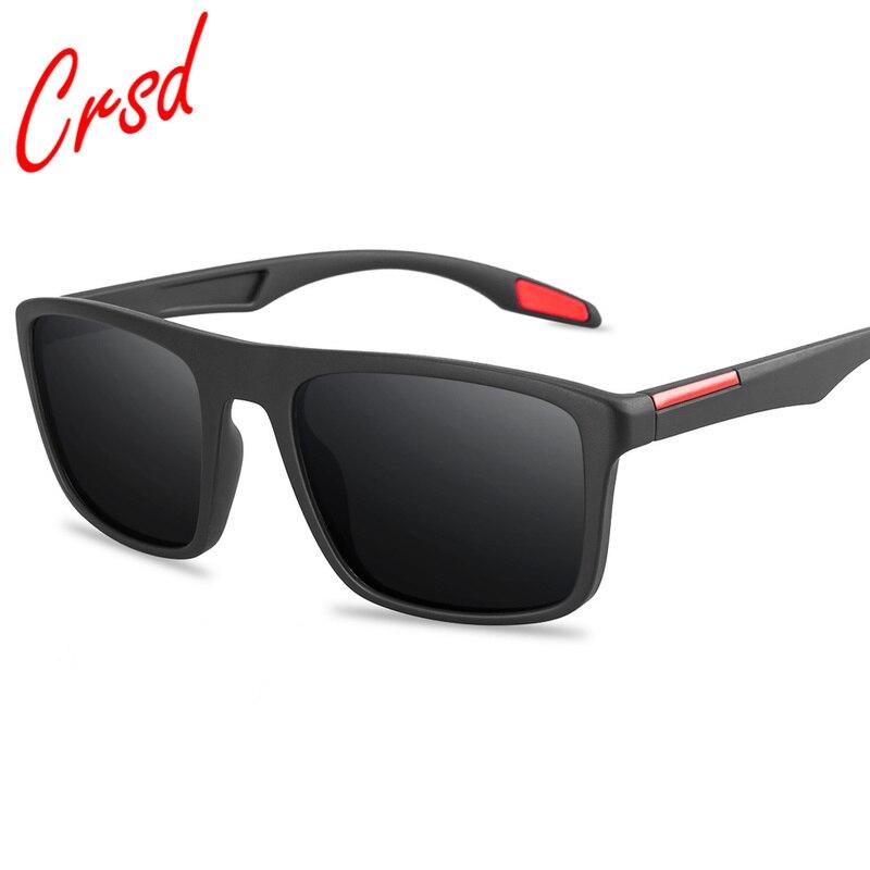CRSD 2020 Mens Fashion Polarized Sunglasses UV400 Rectangular Ultra Light Sun glasses Outdoor Driving Fishing Gafas de hombre