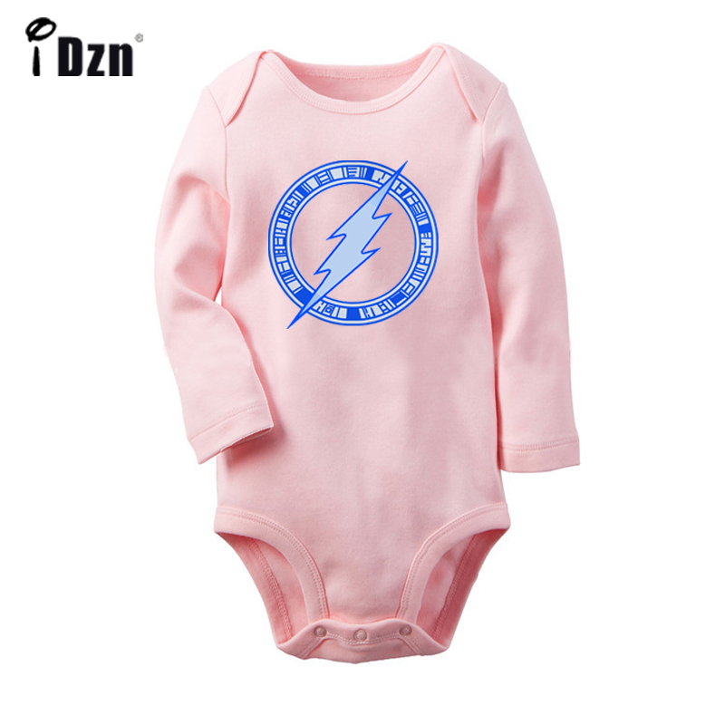 DC Comic The Flash Symbol Super Hero Hollow Circle Arrow Newborn Baby Bodysuit Toddler Onesies Long Sleeve Jumpsuit Clothes