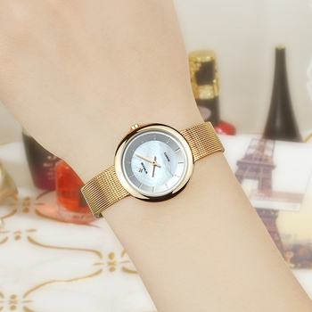 Stylish Luxury Gold Watches Women WWOOR Women Quartz Watch Ladies Bracelet Wrist Watch Dress Gift Clock Female relogio feminino