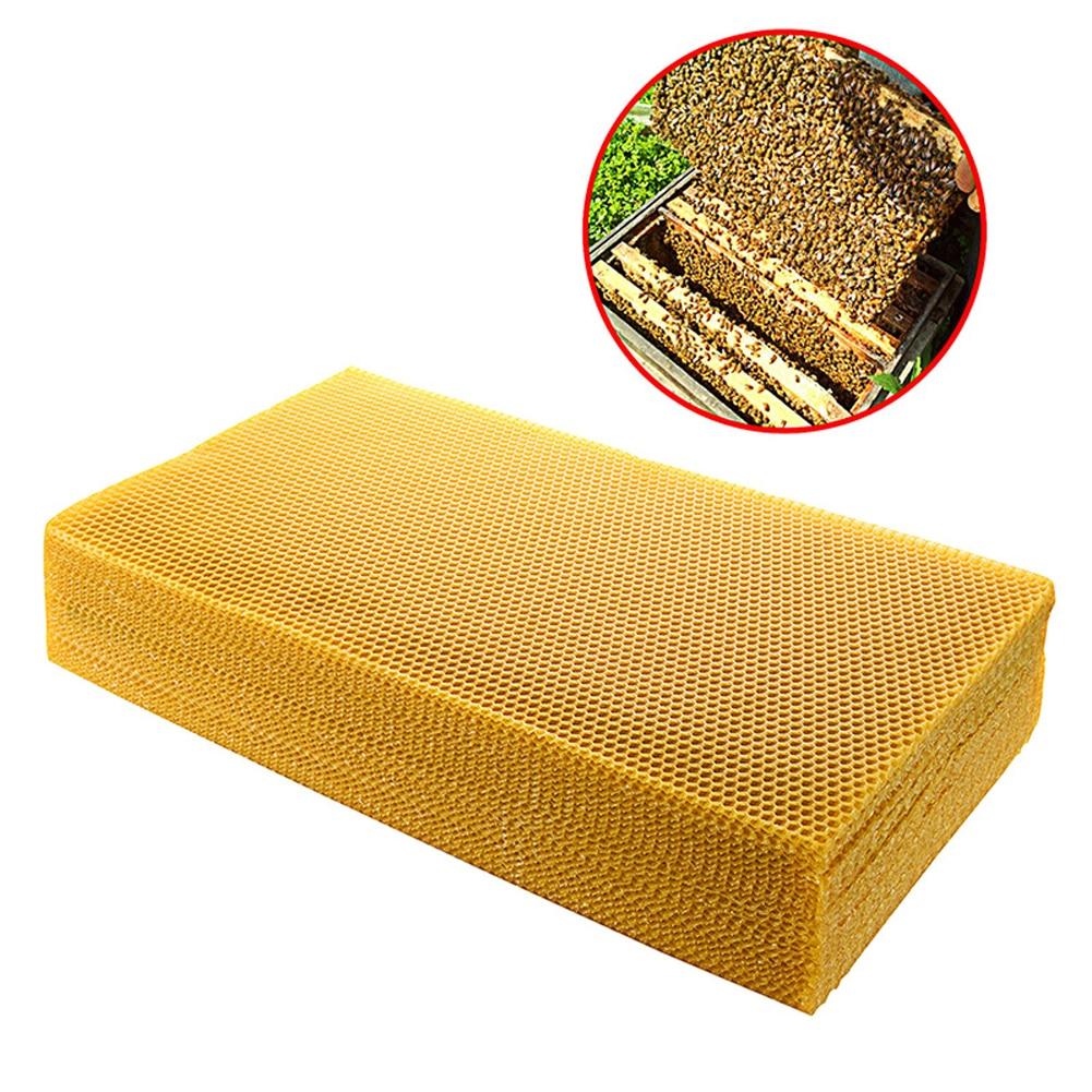 30pcs Beekeeping Tool Bee Beehive Nest Wax Beeswax Tablets Golden Bee Beeswax  For Beeworking Bee Honey Collecting