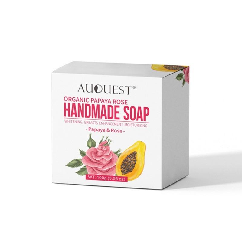 Купить с кэшбэком Papaya Rose Handmade Essential Oil Soap Pure Natural No Stimulation Handmade Soap 100g