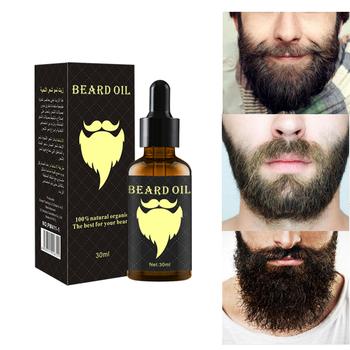 100 naturalne 30ML włosy i olejek na porost brody przyspieszyć włosy twarzy rosną broda olejek mężczyzn broda pielęgnacja włosów rosną fryzjer tanie i dobre opinie Hailicare r Facial Beard Care CN (pochodzenie) Produkt do wypadania włosów Citrus Extract Ginger Oil Vitamin E
