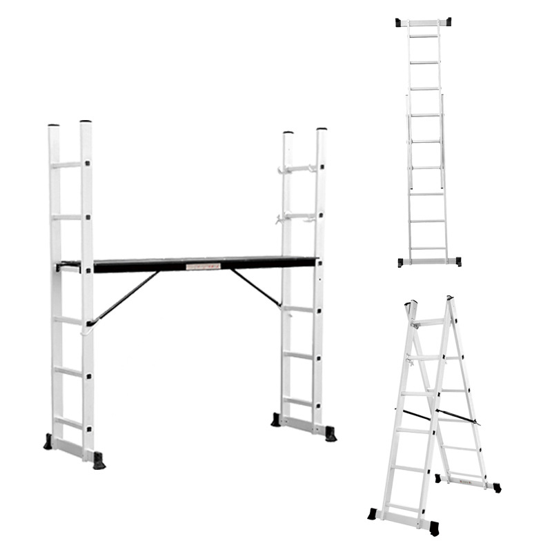 Indoor Decoration Thick Aluminum Alloy Scaffolding Ladder Engineering Folding Combination Ladder Trestle Ladder Manufacturers Di