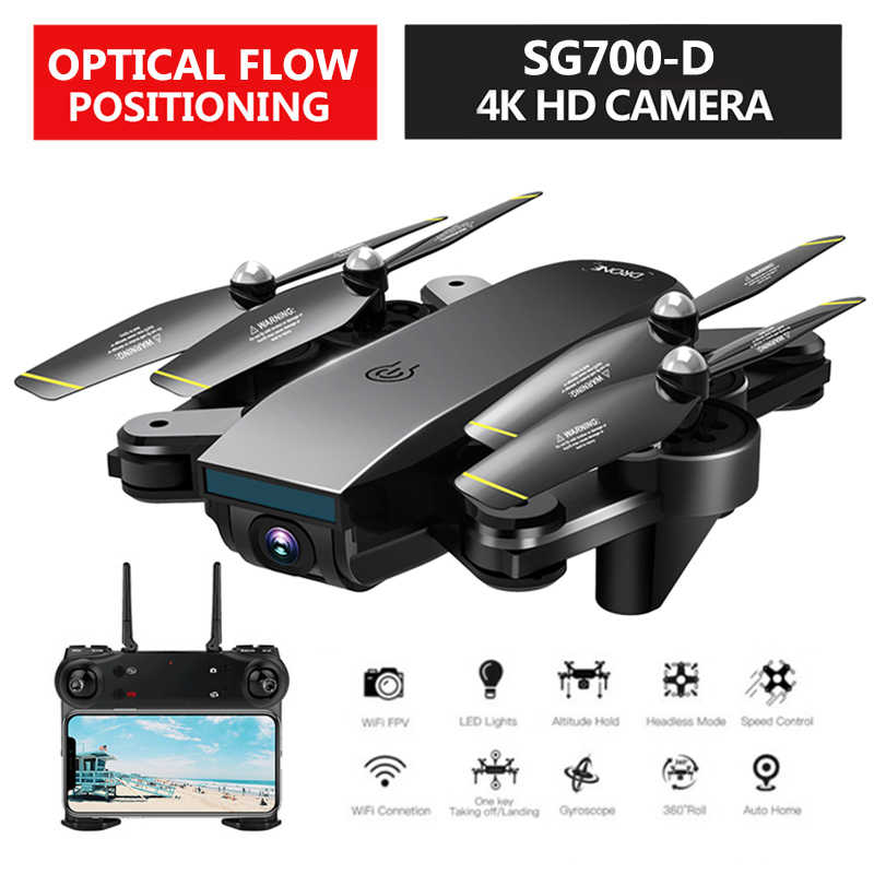 SG700-D Opvouwbare RC Drone Met Dual Camera 1080P 720P 4K Selfie WiFi FPV Optische Flow Professionele Video quadcopter Helicopter