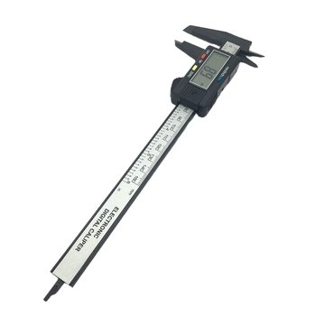 цена на Vernier Caliper 0-150mm Measuring Tool Plastic LCD Digital Electronic Carbon Fiber Ruler Gauge Micrometer