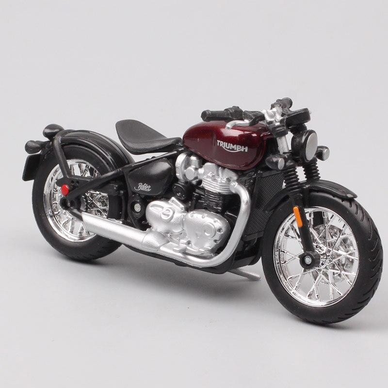 Triumph Bonneville Bobber Bburago moto modelo 1:18