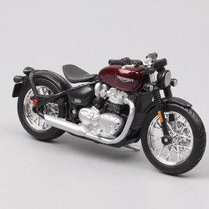 Image 1 - Bburago 1/18 1:18 ölçekli Triumph Bonneville Bobber Diecast plastik motosiklet motosiklet ekran modelleri çocuk oyuncağı erkekler için