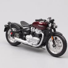 Bburago 1/18 1:18 scale Triumph Bonneville Bobber Diecast Plastic Motorcycle Motorbike Display Models Children Toy For Boys