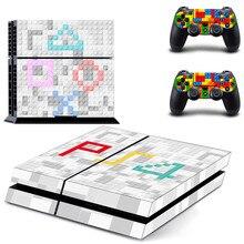 Özel tasarım PS4 çıkartmalar PlayStation 4 cilt PS 4 Sticker çıkartmaları kapak PlayStation 4 için PS4 konsol ve denetleyici skins