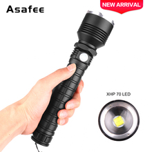 Portable Hunting  XHP70.2 LED Flashlight Lamp Zoom Torch 18650 USB Rechargeable Tactical Light Outdoor Camping Hunting Lamp