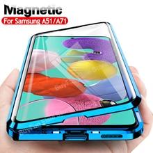 Funda magnética para teléfono móvil Samsung, cubierta completa 360 para Galaxy A51, A71, A31, A21s, S20, FE, S21 Plus, M31