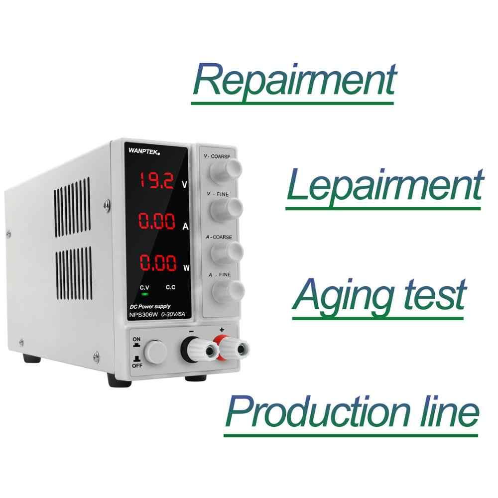 Wanptek スイッチング安定化実験室 Dc 電源調整可能な 120V 60V 30V 6A 10A 3A ラボ電圧レギュレータベンチソース