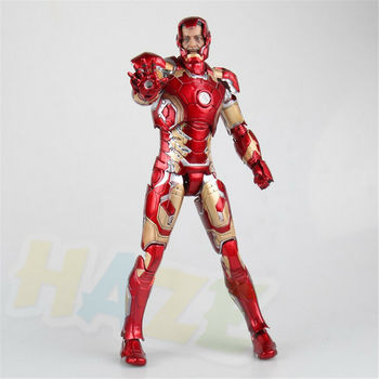 The Avengers Iron Man PVC Action Figure Model MK43 Model Toys Collection Marvel Iron Man Figure Model Toy In Box 30cm