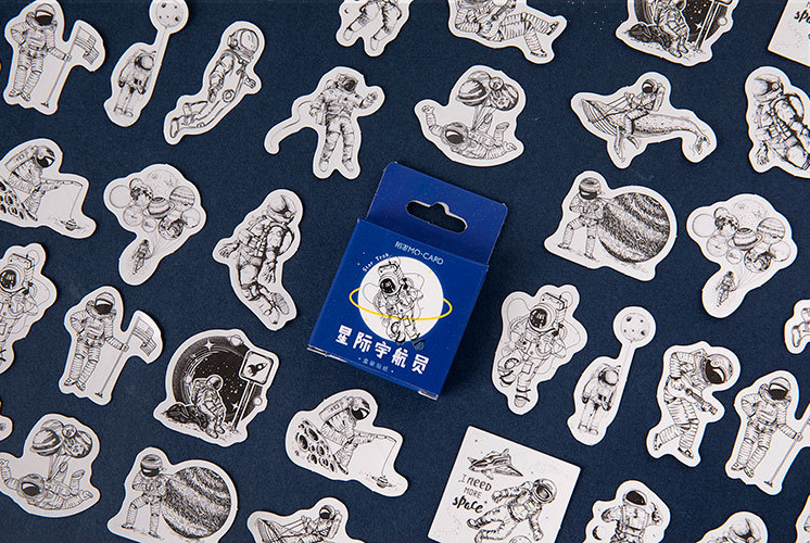 S5- Universe Travel Diy Decorative Sticker(1pack=45pieces)