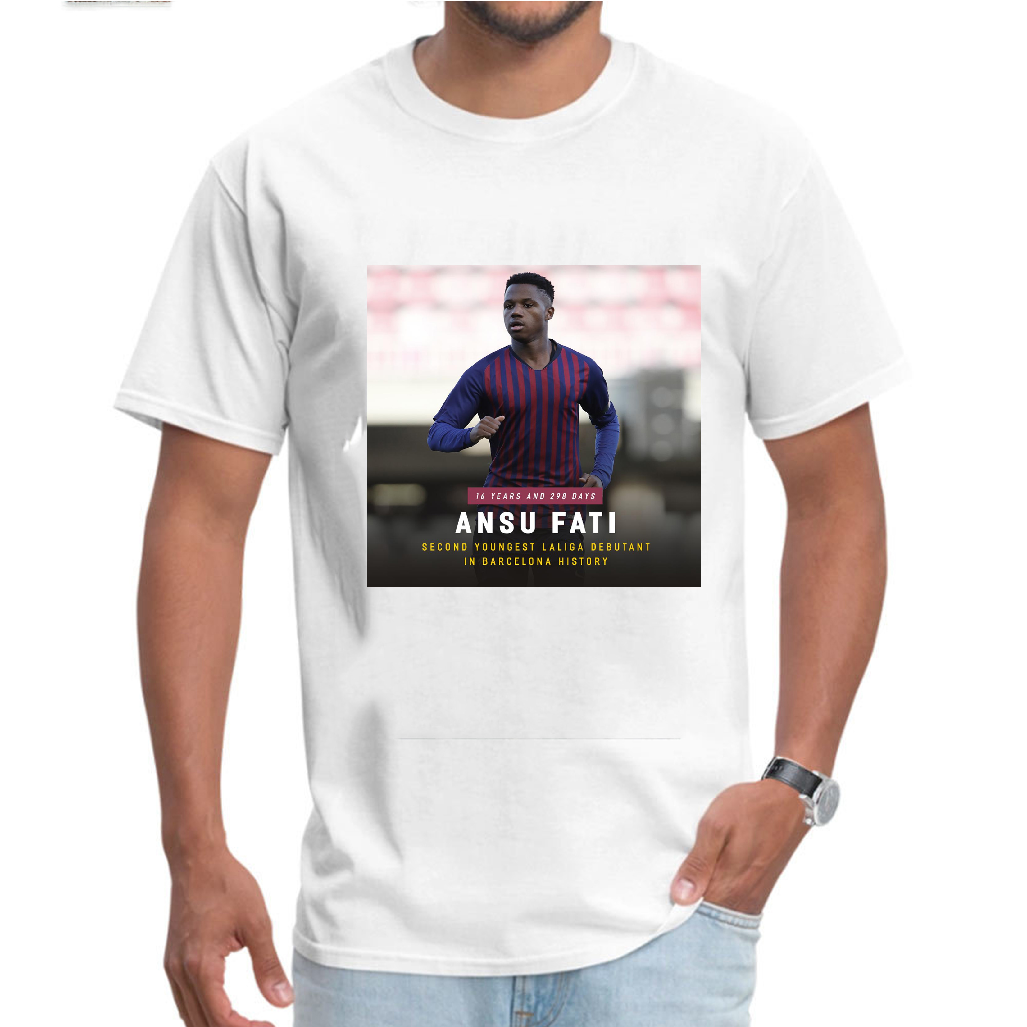Second young player men t shirt Spain Ansu Fati First show Great player Great hope footballer funny t shirts stranger things