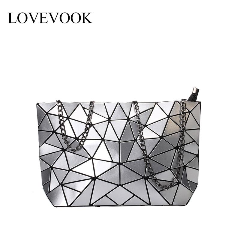 LOVEVOOK Crossbody-Bags Messenger-Bag Geometric Luxury Handbags Foldable Retro Designer