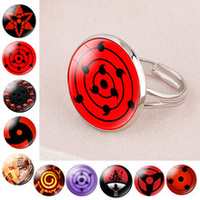 Rvs Sharingan Eye ring Anime Naruto Gevlochten ring Naruto Sasuke Uchiha Clan Ring negan Taichi Kakashi Cosplay Sieraden(China)