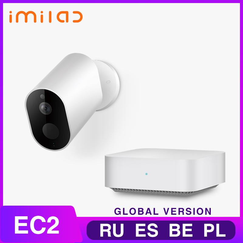 IP Camera IMILAB EC2 APP Wireless Outdoor Camera 1080P Rechargeable Battery WiFi Camera Outdoor Surveillance Home WiFi Camera