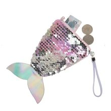 Women girls Mermaid Tail Sequins Coin Purse Cosmetic bag Girls Card Holder Wallet Purse Bag Pouch For Kids Gifts(China)
