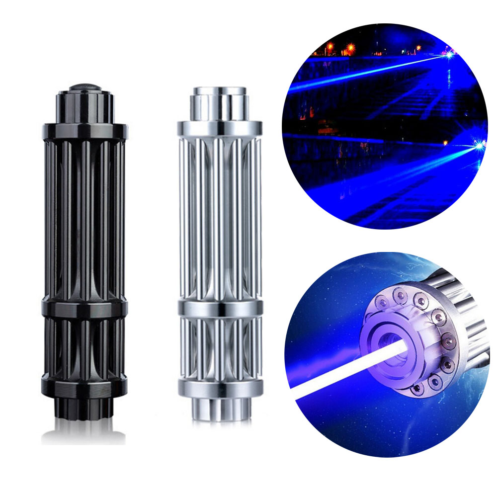 High Power Powerful Blue Laser Flashlight Burning Match/Burn Light Cigars/candle/black Hunting Wireless Remote Outdoor Tool