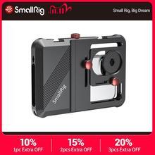 Smallrig Professionele Universele Mobiele Telefoon Kooi Vlogging Kooi Voor Smartphone Met 63.5Mm Tot 87.5Mm Bereik 2494