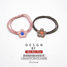 Set Black Elastic Hairbands for Girls Fashion Women Scrunchie Gum Hair Accessories Bands
