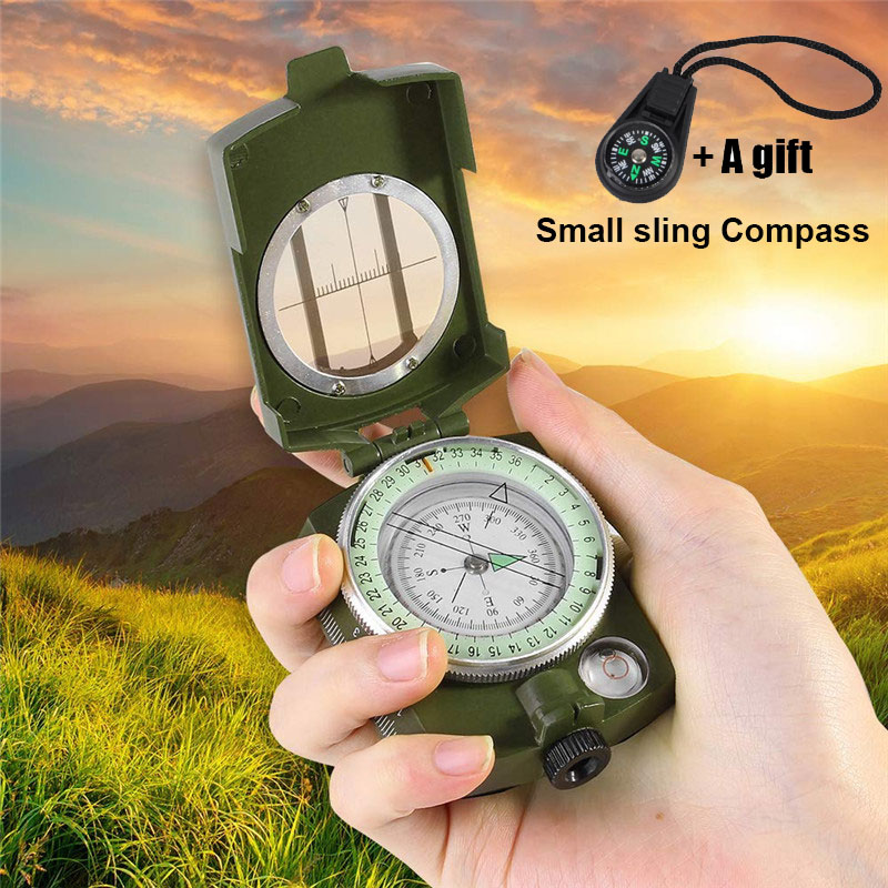 Outdoor Waterproof Compass Survival Kit Emergency Geological Digital Luminous Compass Hiking Camping Hunting Military Equipment