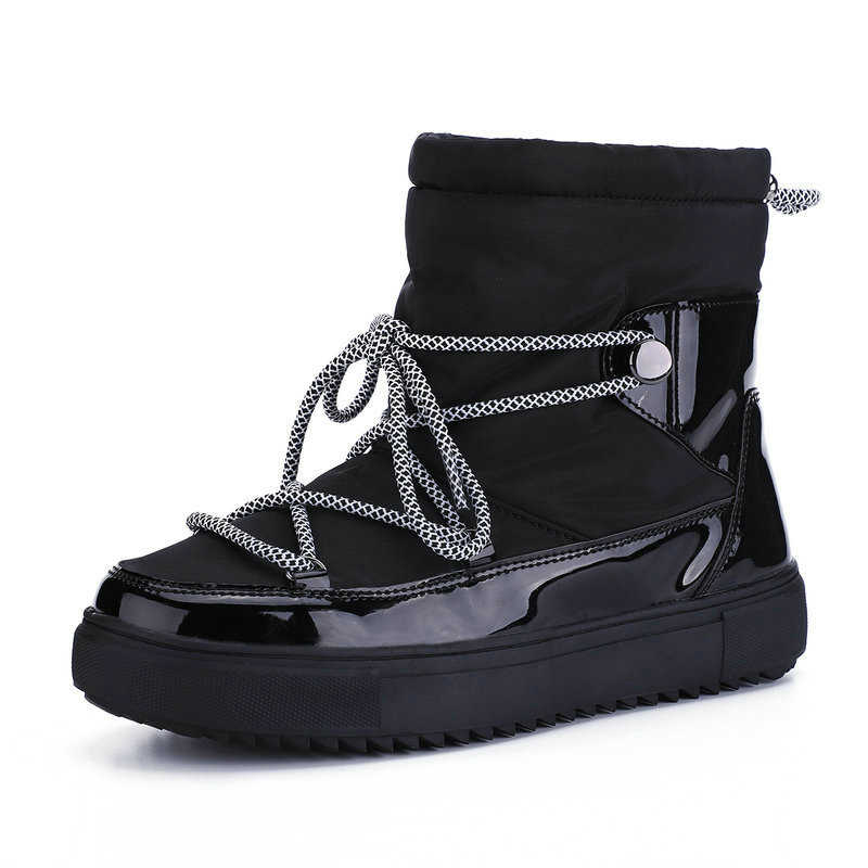 Vrouwen Laarzen Winter warm sneeuw boot 50% natuurlijke wol 2019 nieuwe mode zwart wit lace up korte boötis vrouwen schoenen dropshipping
