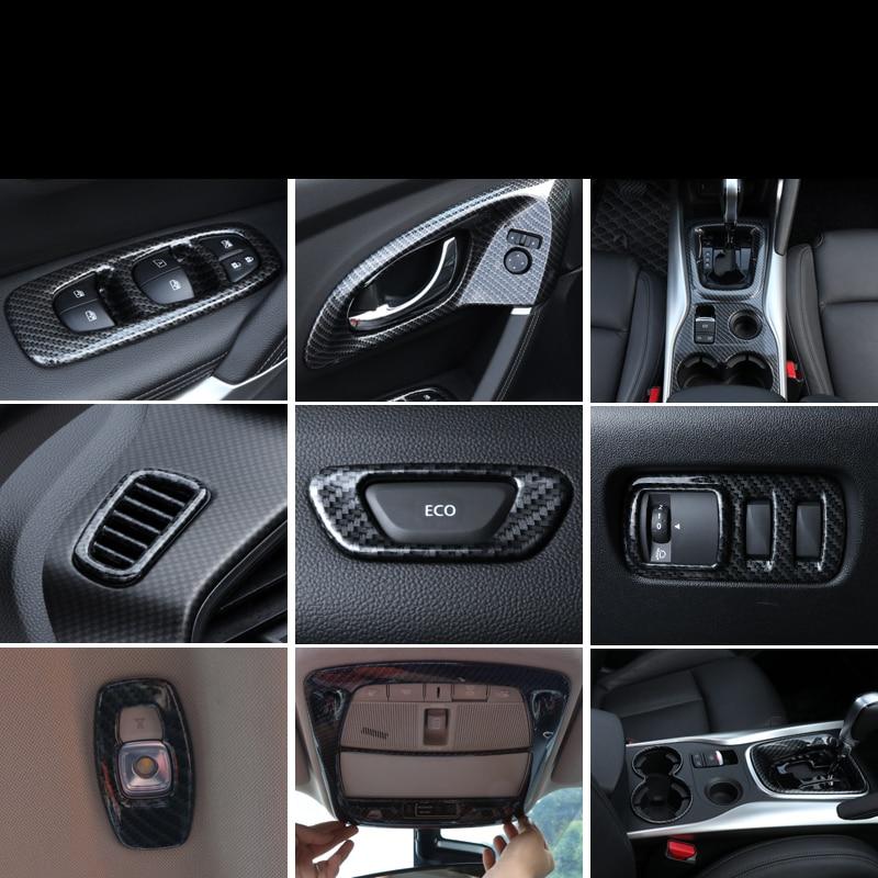 Lsrtw2017 Carbon Fiber Abs Car Interior Decoration Trims For Renault Koleos Kadjar 2015 2016 2017 2018 2019 2020