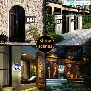Image 5 - الطاقة الشمسية رقم البيت البلاك عنوان أرقام للمنازل مع الطاقة الشمسية إضاءة خارجية مضادة للماء مصباح أرقام لباب سياج صندوق البريد