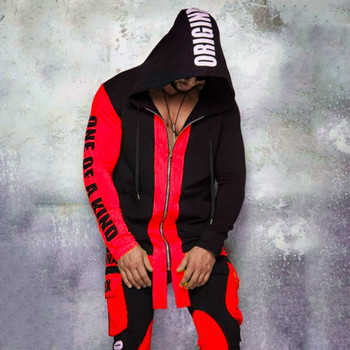 Autumn Men Sweatsuit Zipper Hoodies 2020 Casual Letter Hooded Fitness Sweatshirts Male Tracksuit Sets Pant Sporting Outfit Suits men set 2020 autumn casual hooded sweatshirts male sporting suits men s sportswear tracksuits hoodies pants 2pcs sets moletom