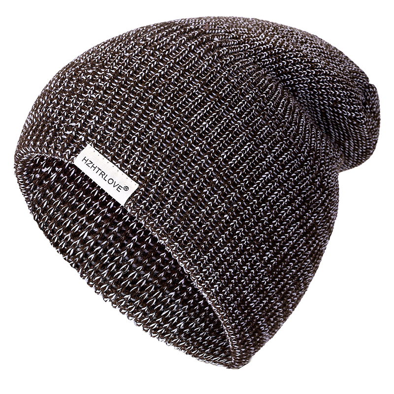 HZHTRLOVE New Mixed Color Casual Beanies For Men Women Girl Boy Fashion Knitted Winter Hat Solid Hip-hop Skullies Hat Unisex Cap