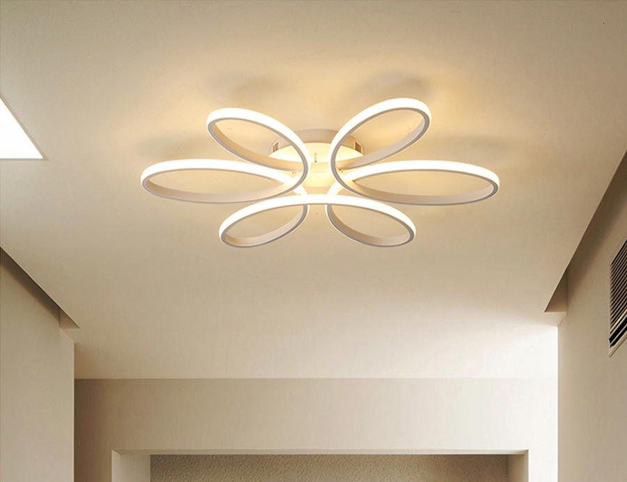 H7957f60943964d8ba0990a81399d0ceaj Modern LED Ceiling Lights Remote control for Living room Bedroom 78W 72W 90W 120W Aluminum boby indoor plafond Lamp flush mount
