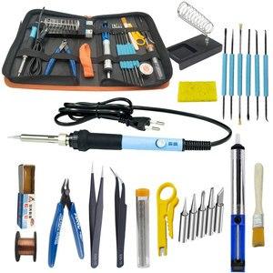 Image 3 - Kit de soldadura eléctrico de hierro de 60W con multímetro para electrónica juego de pistola para soldar temperatura ajustable 110V 220V kit de herramientas