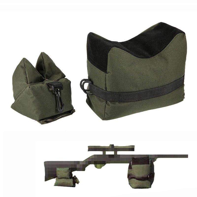 Tático Saco Resto Set Front & Rear Rifle Sniper Gun Shooting Alvo do Banco Por Preencher Apoio Estande Caça Acessórios Saco Saco De Areia