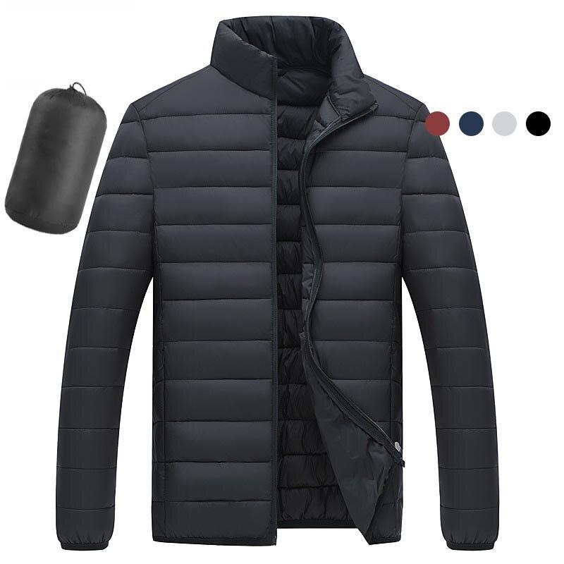 New Winter Ultra-thin   Down   Jacket Men's Lightweight   Down   Jacket Stand Collar High Quality Waterproof Men's Cotton   Coat   Parkas
