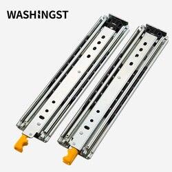 Rail coulissant robuste avec serrure | 76mm de largeur, Extension complète roulement à billes massif, rail à tiroirs industriel