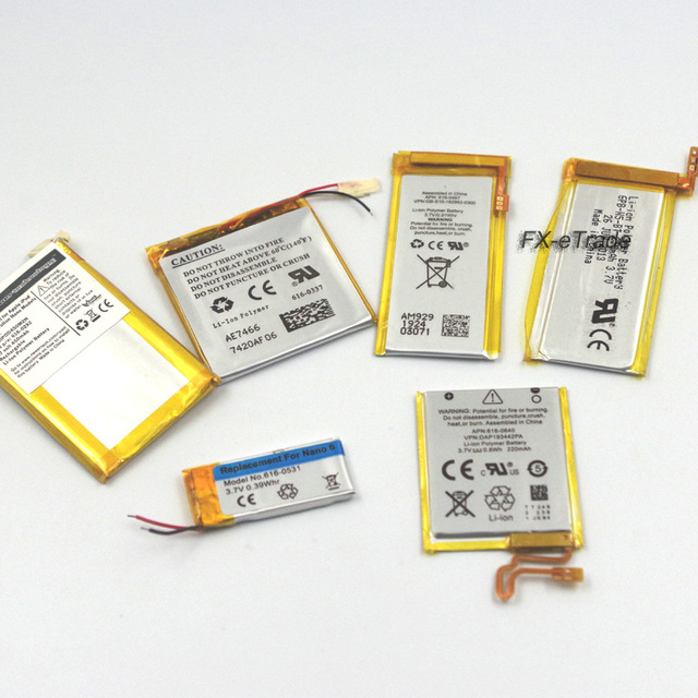 Internal Li-ion Battery Replacement for iPod Nano 2nd 3rd 4th 5th 6th 7th
