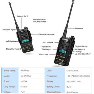 Image 3 - IP68 2021 ترقية uv9r Baofeng UV 9R زائد 50 كجم اسلكية تخاطب 10 واط hf اتجاهين راديو vhf uhf هام راديو طويل المدى CB محطة راديو